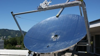 HCPVT-Anlage: gekühlte Solarmodule