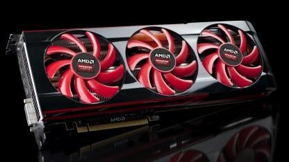 Die Radeon HD 7990 mit drei Lüftern