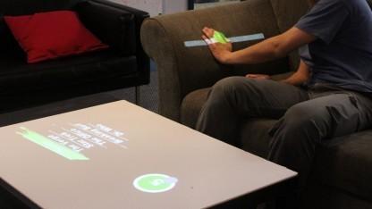 Worldkit: Bedienelemente mit Gesten aufrufen