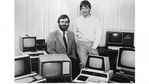 Allen (l.) und Gates im Jahr 1981