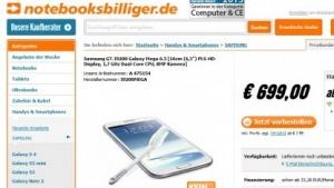 Samsungs Galaxy Mega 6.3 bei Notebooksbilliger gelistet