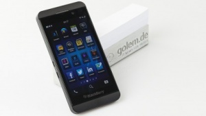 Das Blackberry Z10 mit dem neuen Betriebssystem Blackberry 10