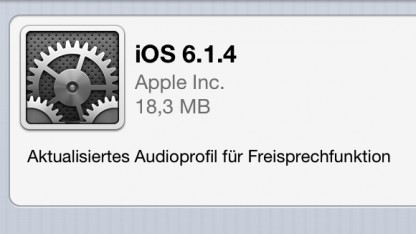Die Version iOS 6.1.4 bringt nur eine einzelne Änderung.