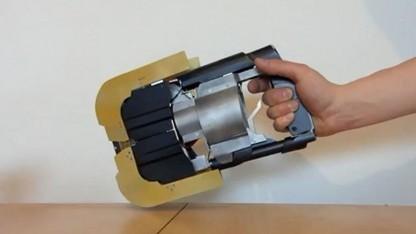 Laserwaffe. 200 Stunden Arbeit