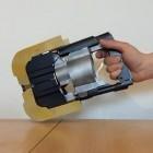 Laser: Selbstgebaute Laserpistole verkohlt Holz