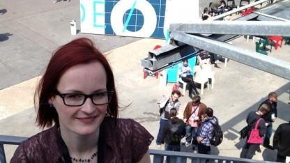 Die Kommunikationswissenschaftlerin Nele Heise bei der Re:publica