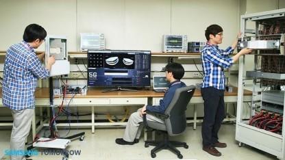Die Samsung-5G-Techniker bei der Arbeit
