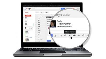Google Wallet wird in Gmail integriert.