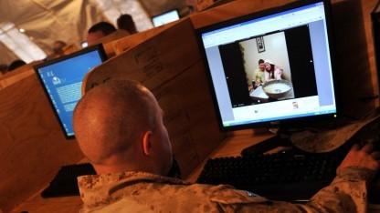 Facebook-Nutzer US-Marinekorporal Jonathan Odriscoll (auf einer Militärbasis in der Provinz Helmand/Afghanistan)