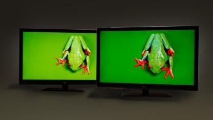 LC-Displays: links ohne und rechts mit QDEF