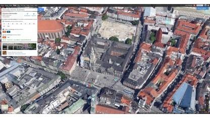 Marienplatz in München in 3D im neuen Google Maps