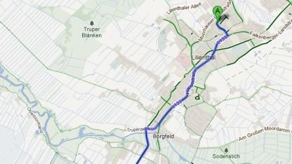 Google Maps mit Fahrradnavigation