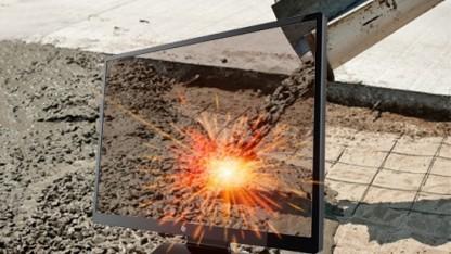 Neues Verfahren zur Halbleiterherstellung: Bildschirmkomponenten aus Zement