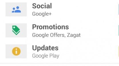 Gmail mit automatisierter Kategorisierung