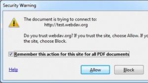 Durch einen speziellen Parameter wird ein Warnhinweis zum Öffnen einer URL unterdrückt, obwohl eine Verbindung bereits aufgebaut wurde.