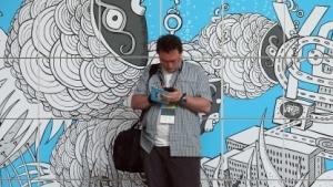 Ein Besucher auf der Re:publica 2013