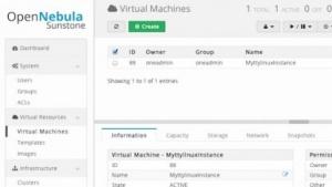 Das neue Web-Interface von Opennebula