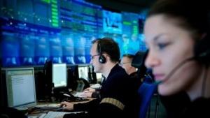 Beschäftigte im T-Systems-Rechenzentrum in Magdeburg