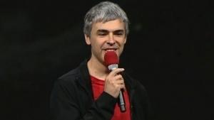 Larry Page spricht auf der Google I/O 2013.