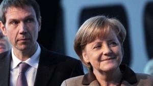 Merkel und Telekom-Chef Obermann