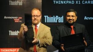 Lenovo stellt sein UltrabookThinkpad X1 in Indien vor.