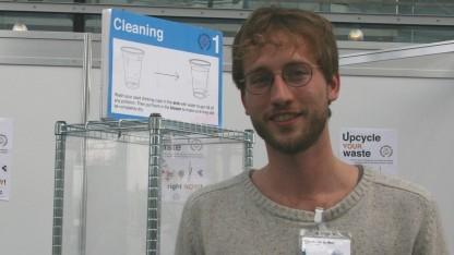 Casper van der Meer vom Perpetual Plastic Projekt