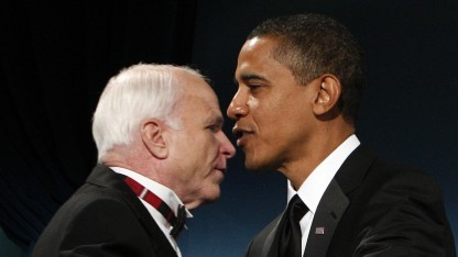 Barack Obama, John McCain (am 19. Januar 2009): Reaktion vor dem Brief