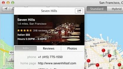 Die iOS-Kartenanwendung kommt auch für den Desktop.