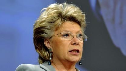 EU-Kommissarin Viviane Reding will Auskunft über die Überwachung durch die US-Regierung.