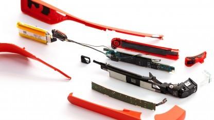 Die zerlegte Datenbrille Google Glass