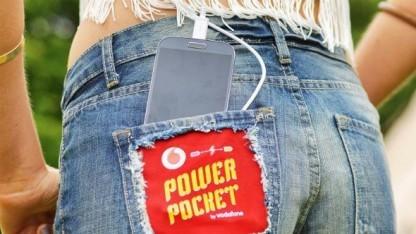 Power Pocket lädt das Smartphone wieder auf.