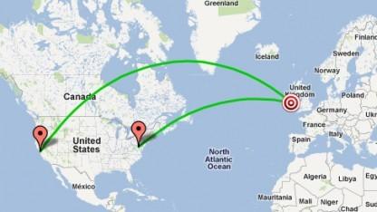 Load Impact schickt Traffic aus mehreren Regionen.