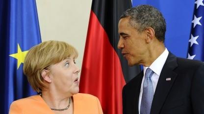Merkel und Obama vor Journalisten in Berlin