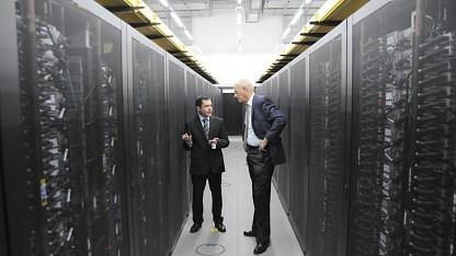 IBM-Rechner SuperMUC von innen