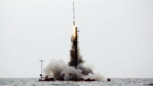 Vor der Küste der Ostseeinsel Bornholm starteten Kristian von Bengtson, Peter Madsen und ihr Team eine selbst gebaute, unbemannte Rakete.