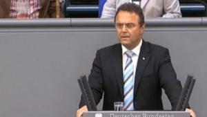 Innenminister Friedrich bei seiner Rede im Bundestag