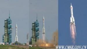 Start einer chinesischen Langer-Marsch-Rakete (Symbolbild): Wie entwickeln sich Zellen bei Mikrogravitation?