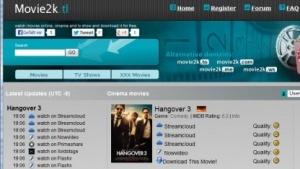 Startseite von Movie2k.tl