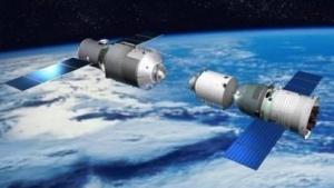 Chinesische Raumstation Tiangong mit Shenzhou-Raumschiff (Symbolbild): Satellit im Orbit abgeschossen