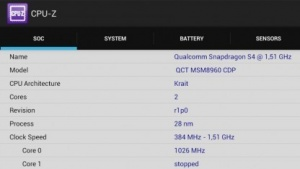 CPU-Z auf einem Transformer-Tablet