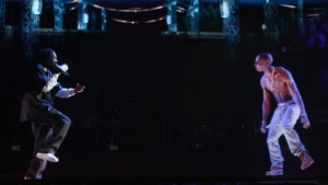 Tupac postum auf der Bühne: 3D-Projektionen sind nur der Anfang.