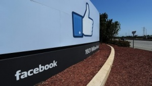 Eingang zum Facebook-Gelände in Menlo Park