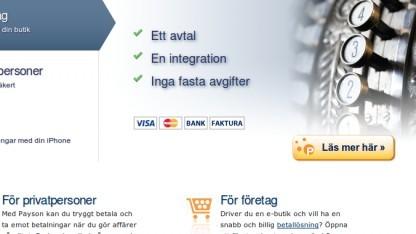 Payson erlaubt keine Zahlungen für VPN-Dienste per Kreditkarte auf Weisung von Mastercard und Visa.