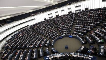 Das Europäische Parlament auf seiner Sitzung in Straßburg