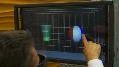 Beweglicher Touchscreen mit 3D-Darstellung