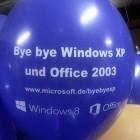Microsoft Deutschland: Bye-bye Windows XP - Ballons zum Abschied