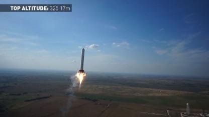 Grasshopper: genauere Daten über den Abstand zwischen Rakete und Erdboden