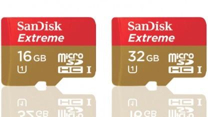 Die Extreme-Karten mit 16 und 32 GByte, 64 GByte gibt es ebenfalls.