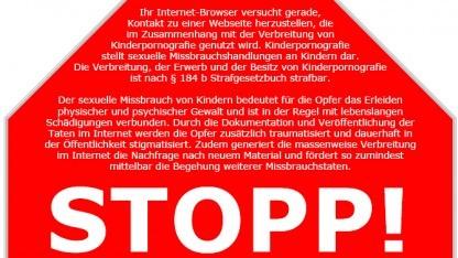 Entwurf für das Stoppschild in Deutschland