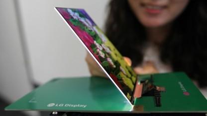 Flaches Display für Smartphones